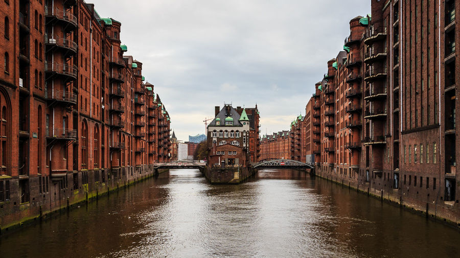 Hamburg Speicherstadt Architecture Urban Geometry