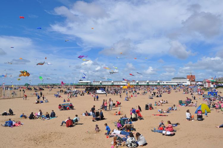 People on the beach. People On The Beach Beaches Beach Kites Kite Flying Kites In Motion Kite People Group Of People EyeEm Gallery English Beach Seaside Sand & Sea Eye4photography  EyeEmBestPics Check This Out in Lytham St Annes