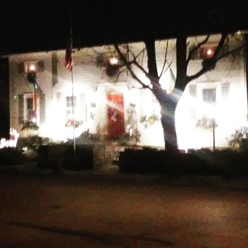 My friends house, decorated for Christmas, built in 1778. Christmas FallinNY