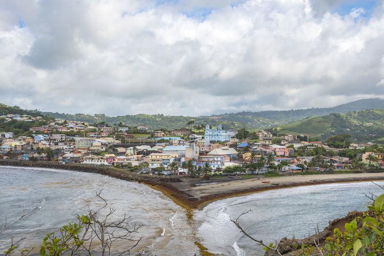 Le Tombolo de Sainte Marie, Martinique Martinique Built Structure Caribbean City Cityscape Cloud - Sky Day Environment Island Landscape Nature Travel Destinations Tropical Climate Water