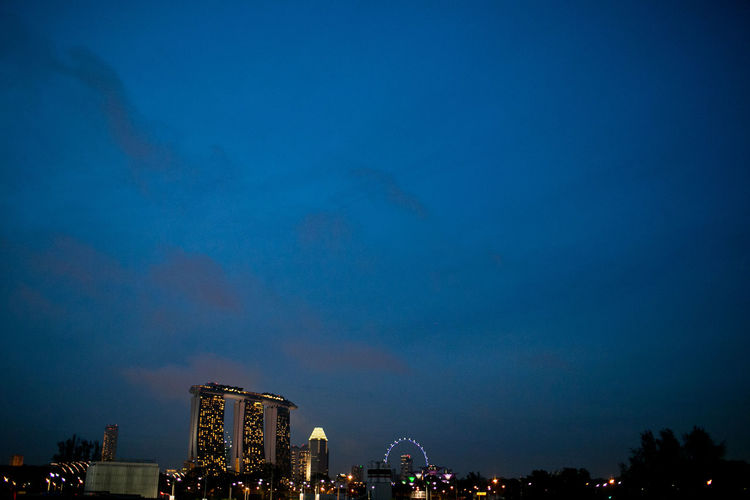 Landscape Marina Bay Sands Nightphotography Seeing The Sights Singapore Flyer