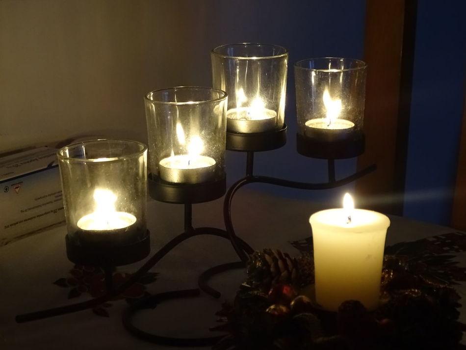 Candle Burning Flame Fire - Natural Phenomenon Candlelight Heat - Temperature Illuminated Tea Light Indoors  No People Spirituality Night HUAWEI Photo Award: After Dark