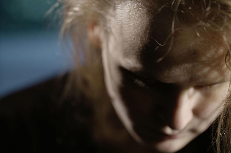 Close-up of sad woman