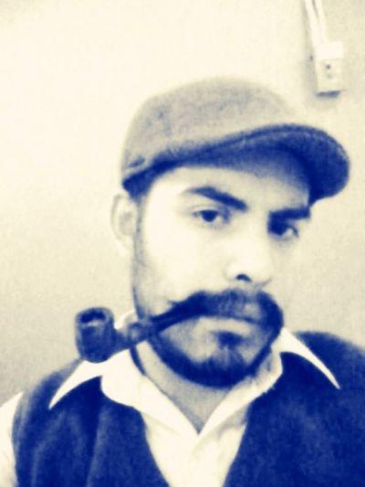 Movember Smoking Enjoying Life Happy Selfportrait Hello World