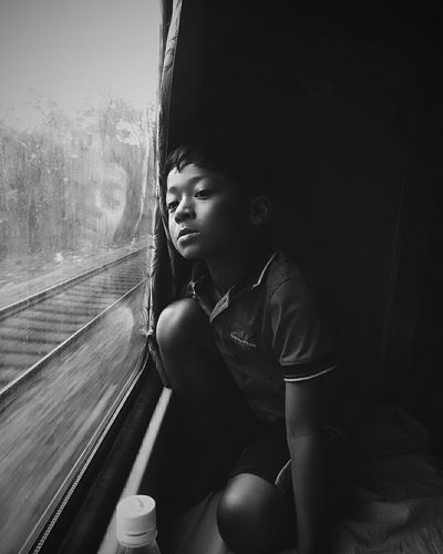 Childhood Sitting Child Children Only One Person Train - Vehicle Window Indoors  People Day Adult Portrait Photography Monochrome _ Collection Portraits_universe Jj_allportraits Monochrome World Monochrome Photography Monochrome_life Monochromatic Close-up Portrait The Portraitist - 2017 EyeEm Awards Neighborhood Map The Photojournalist - 2017 EyeEm Awards BYOPaper! The Street Photographer - 2017 EyeEm Awards EyeEm Selects