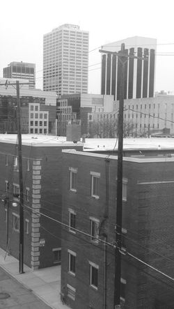 Down town view from library Building Exterior Architecture Built Structure City Outdoors City Life No People Residential Building Day Ohio, USA Ohio Columbus Columbus, Ohio