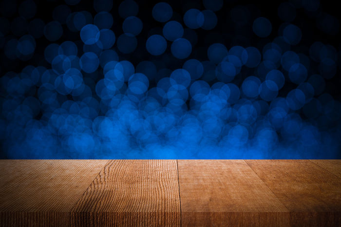 Dark Montage Photography Background Bar Blue Bokeh Brown Counter Display Electronics  Illuminated Night Pallet Wood - Material