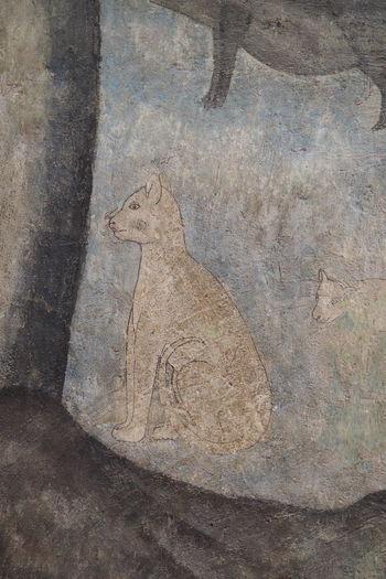 A cat in mural