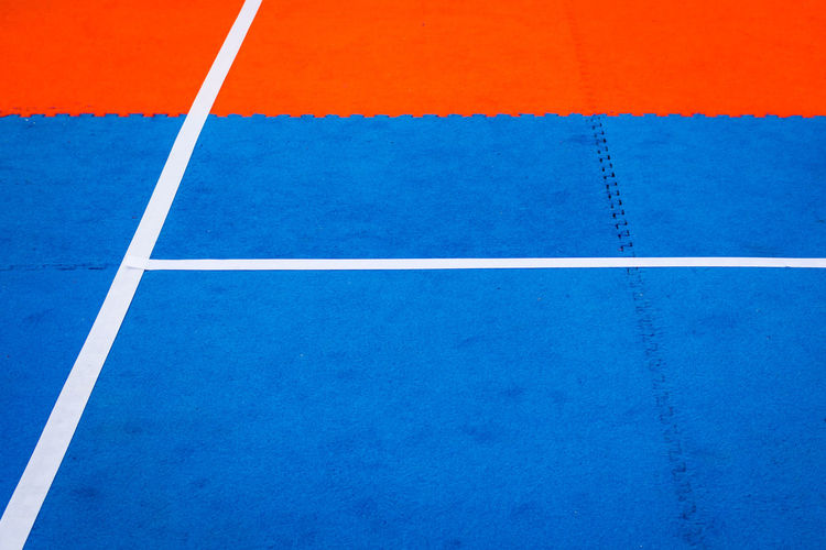 Abstract Abstract Photography Backgrounds Blue Blue Background Colour Of Sport Colourful Full Frame Geometric Shape LINE Multi Colored No People Red Red And Blue Stripes Red White And Blue Sport Sports Ground White Lines The Color Of Sport