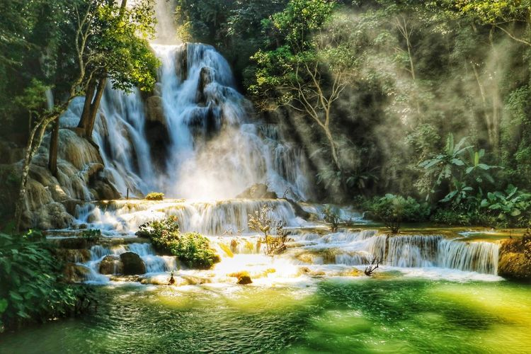Laungprabang Loas Travel Water Waterfall Motion Long Exposure Landscape Natural Landmark The Traveler - 2018 EyeEm Awards The Great Outdoors - 2018 EyeEm Awards