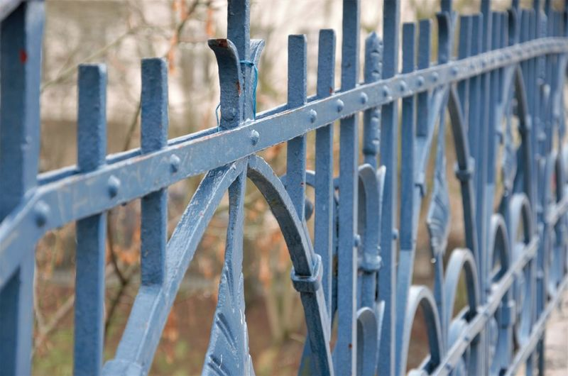 Close-up of fence