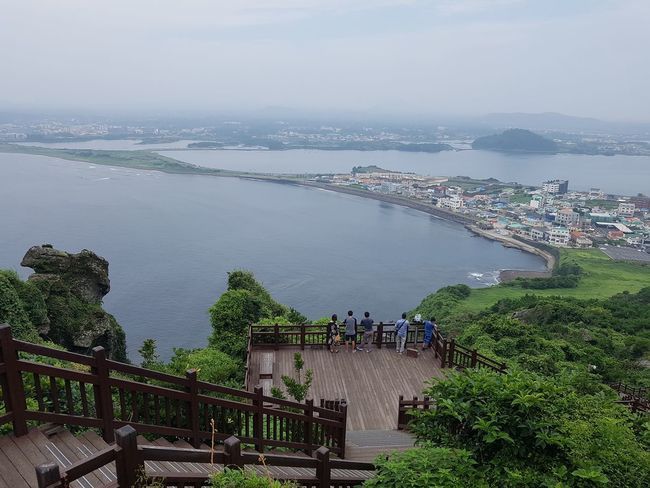 a cloudy weather in Jeju island EyeEm JEJU ISLAND  Cloudy Day Low Angle View Water Cityscape Tree Business Finance And Industry Horizon Over Water