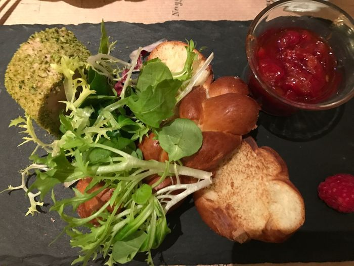 Pate and Brioche Raspberries Appetizer Small Plates Slate Lettuce Leaf Lettuce Pate Brioche Freshness Ready-to-eat Close-up Lettuce
