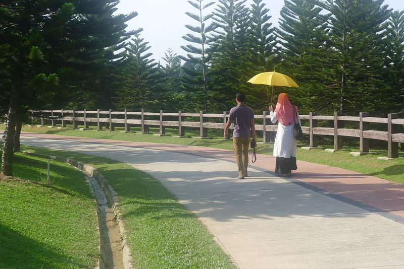 Footpath Garden Malaysia Outdoors Putrajaya Taman Saujana Hijau Togetherness Umbrella Walk Walking
