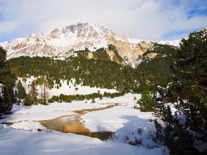 Winter sun. Lucomagno pass, Blenio valley, Ticino, Switzerland