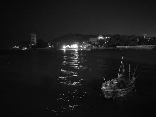 Illuminated City Reflection Night Water Sea No People Outdoors Urban Skyline Cityscape Architecture Sky