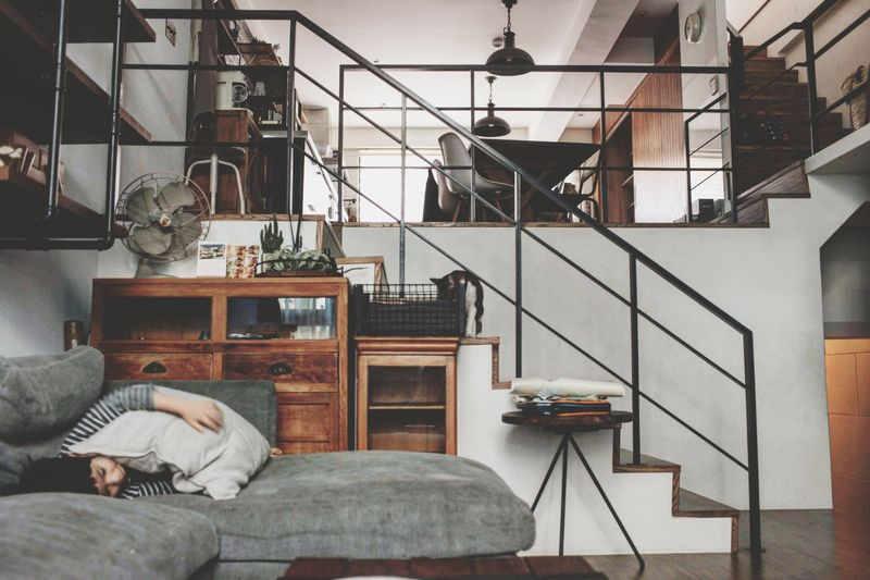 My Taiwan home Taiwan Life Style Home Indoors  Staircase Steps And Staircases Home Interior Adult One Person Adults Only