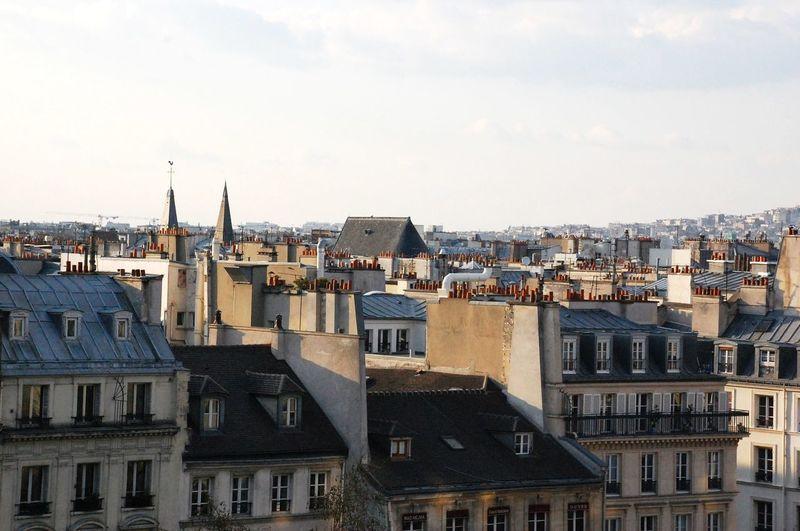 Paris Cityscape Against Sky