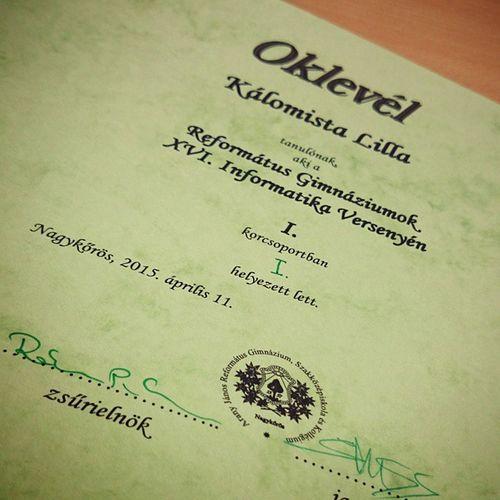 I. hely XVI. RGOIV Informatika Verseny IT Competition Hungary