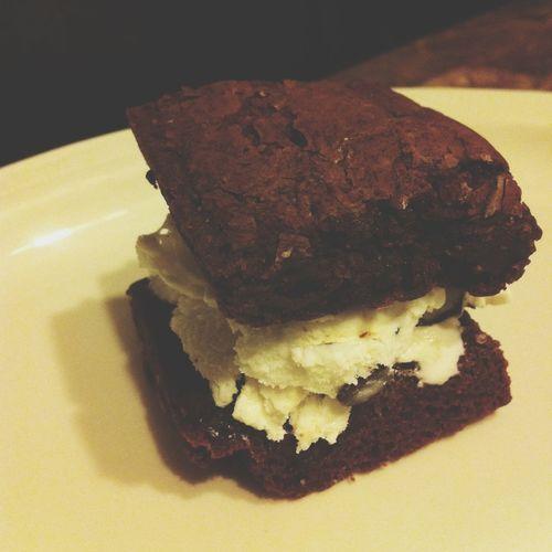 Ice Cream Brownie Sandwich