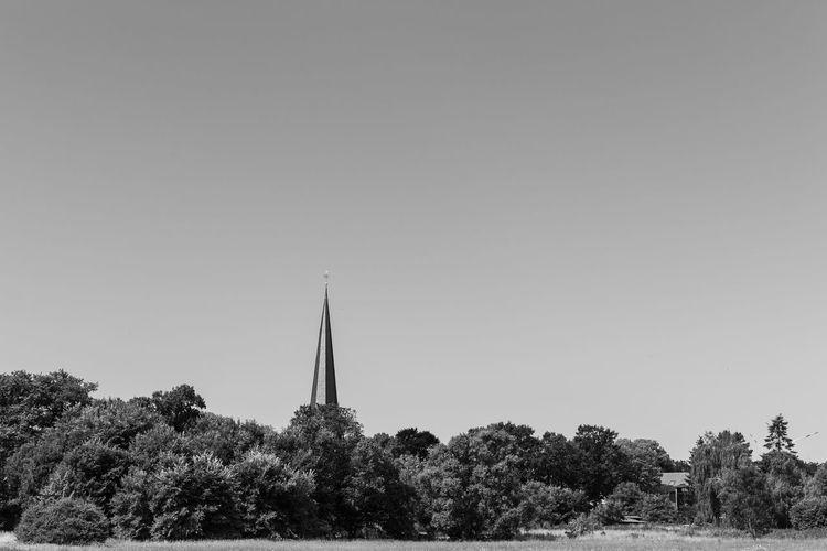 Brandenburg Church Dorf Kirche Trzoska Architecture Building Building Exterior Clear Sky Day Field Nature No People Outdoors Prignitz Religion S/w Sky Tower Tree Village