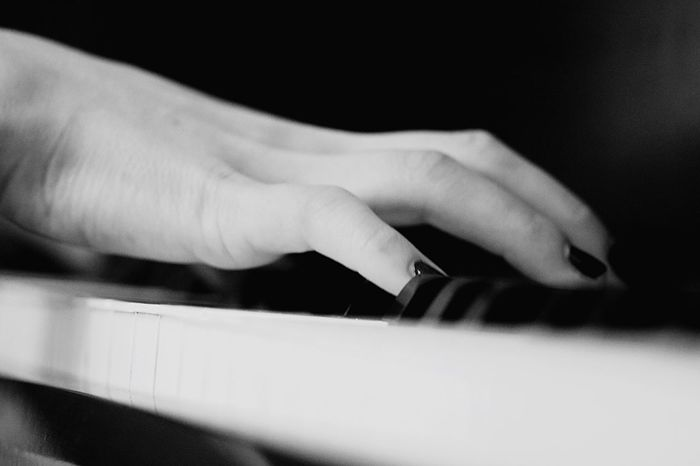 Human Hand Musical Instrument Human Body Part Music Indoors  Playing Human Finger One Person Close-up Arts Culture And Entertainment Selective Focus Real People Piano Piano Key Technology Day Skill  Adult People