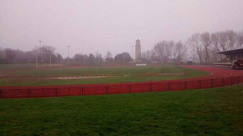 Unedited Walking Around Rainy Day Sports Center Clock Tower