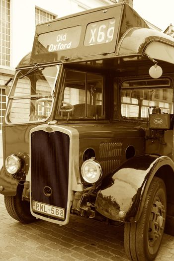 Text Transportation Old-fashioned Mode Of Transport Land Vehicle Retro Styled Day Outdoors No People City Autocar Autobus Bus Vintage Oldtimer Monochrome Sepia Front View Front EyeEm Gallery Transportation Schoolbus Old
