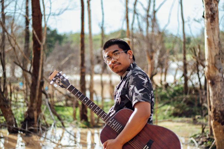 Southeast asian guitarist