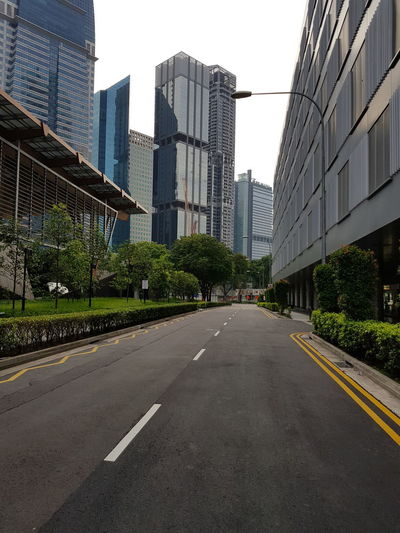 No People Rare Sight No Vehicles AndroidPhotography Nofilter Modern Business Empty Road Office Building Exterior Financial District  Office Building