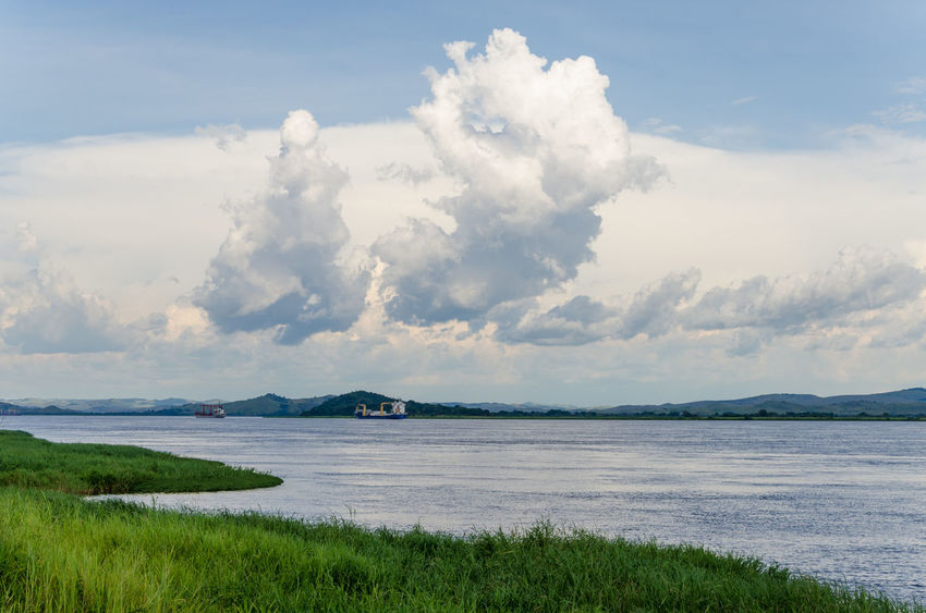 Congo Beauty In Nature Cloud - Sky Day Grass Green Color Growth Landscape Mountain Nature No People Outdoors Scenics Sea Sky Tranquil Scene Tranquility Water