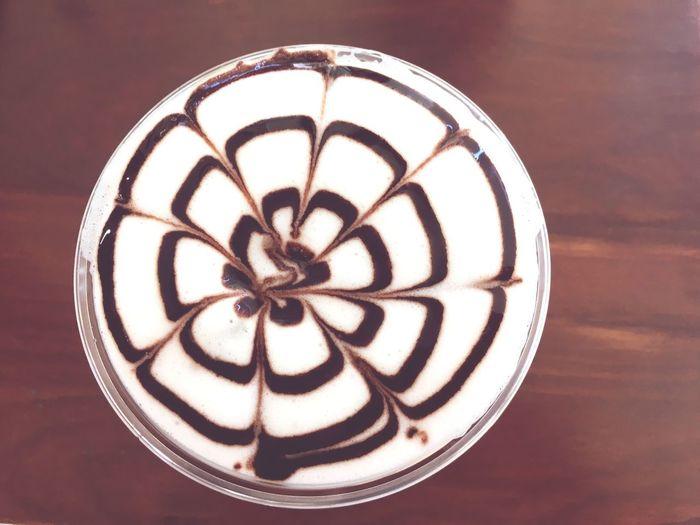 Chill Mode Latte Art Coffee ☕ Close-up