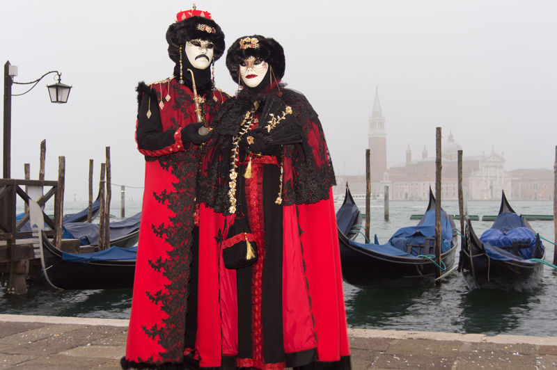 Carnival in Venice Canal Grande Carnival In Venice Day Fog Foggy Morning Gondola - Traditional Boat Leisure Activity Mask - Disguise Nautical Vessel Outdoors Real People Red Sea Standing Two People Young Adult Young Women The Portraitist - 2018 EyeEm Awards