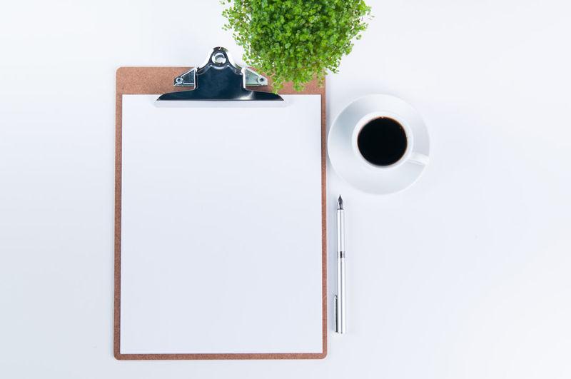 Coffee Plant Blank Clip Board Clipboard Coffee Cup Empty Flat Lay Flatlay Mock Up Mockup Paper