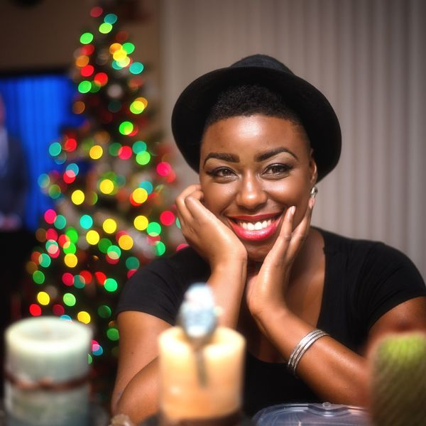 Happy Holidays :) Portrait Only Women Black Hair Adults Only Cheerful One Woman Only One Person Headshot Celebration Looking At Camera Smiling Adult Enjoyment People Arts Culture And Entertainment Close-up Multi Colored Women One Young Woman Only Young Adult Black Woman