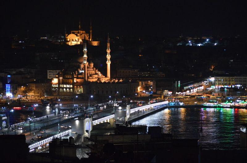 Architecture Bridge City Life Galata Tower Istanbul Night Life Night Lights Tower