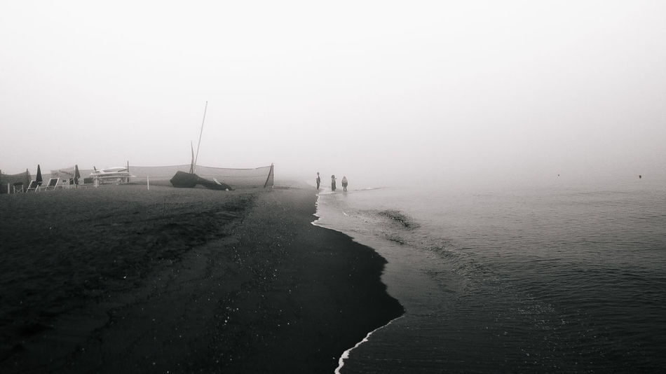 """part of """"The ruthless silence"""" Beach Black & White Black And White Black And White Photography Black&white Blackandwhite Blackandwhite Photography Coastline Eye4photography  EyeEm Best Edits EyeEm Best Shots EyeEm Best Shots - Black + White EyeEm Gallery EyeEmBestPics Eyemphotography Fine Art Photography Fog Non-urban Scene Outdoors Sea Shore The Magic Mission Tranquil Scene Tranquility Water"""
