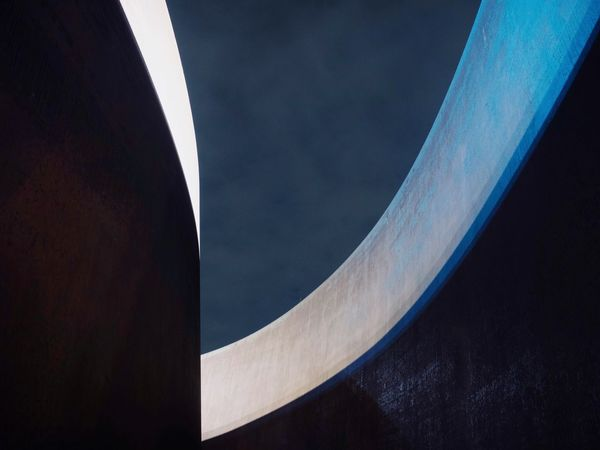 Architecture Details No People Curve Day Close-up Pattern Nature Outdoors High Angle View Blue Full Frame Abstract Architecture City Built Structure Arts Culture And Entertainment Visual Creativity