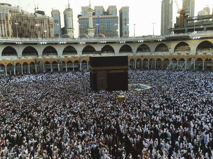 Architecture Large Group Of People Built Structure Crowd People Holly Mosque Ka'bah Umrah Pilgrimage EyeEmNewHere