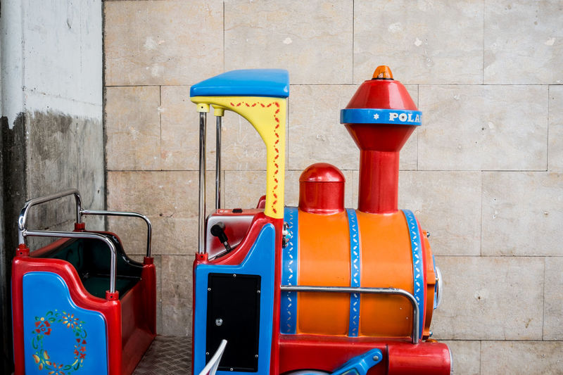 Toy Train Red No People Outdoors Day Close-up Fragments Of Life Things I See Color