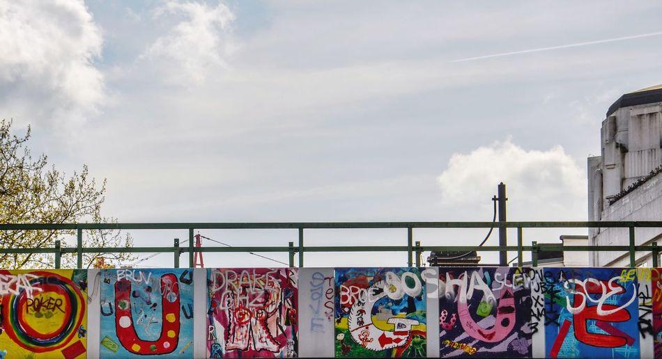 Colourfulness Urban Sky Outdoors No People Cloud - Sky Multi Colored Day Building Exterior Architecture Bridge - Man Made Structure Bridge Graffiti Cityscape Brixton Brixton, London EyeEm LOST IN London Postcode Postcards