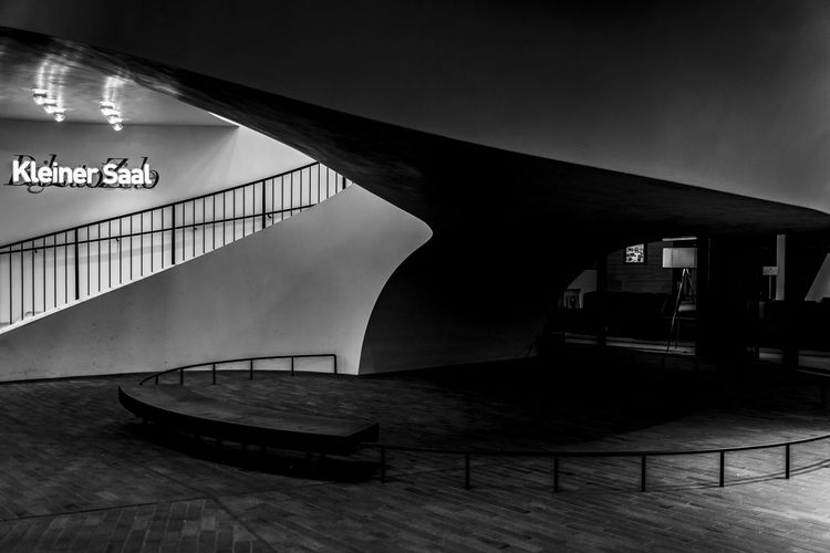 entrance small hall Architects Jacques Herzog, Pierre De Meuron Architecture Black And White Built Structure Construction Project Of The Century Day Elbphilharmony Hamburg Hamburg Hafencity Hamburg Harbour Indoors  Kleiner Saal Landmark Modern House No People Plaza Railing Small Hall Steps And Staircases