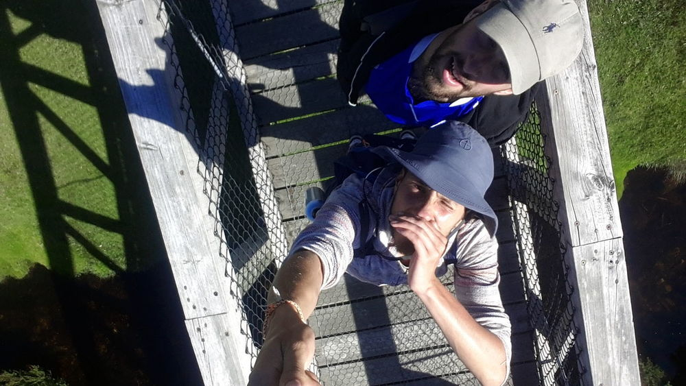Adventure Buddies Mountain Hiking Hikingadventures Tasmania At The Edge Of The World Beautiful Nature Selfie ✌ SelfieStickAdventures Beautiful Colours Light And Shadow Light And Shadows Adventure Budies