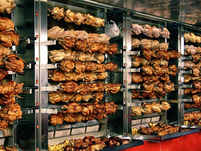 View Of Rotisserie Chicken