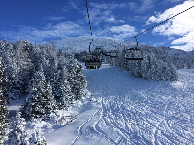 Beauty In Nature Cable Cloud - Sky Cold Temperature Day Landscape Mountain Nature No People Outdoors Overhead Cable Car Scenics Ski Lift Sky Snow The Way Forward Tranquil Scene Tranquility Transportation Tree Weather Winter