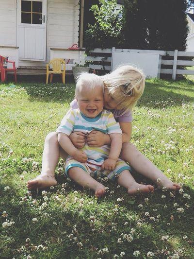 Siblings Love Baby Boy Baby Girl