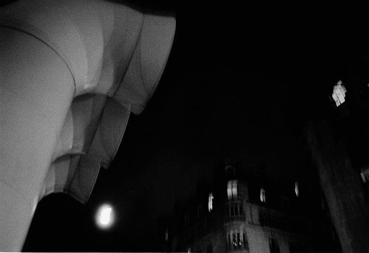 Black And White Electric Light Historic Historical Building Illuminated Light Low Angle View Lüftung Moodshot Night Pompidou Schwarz Weiß :)
