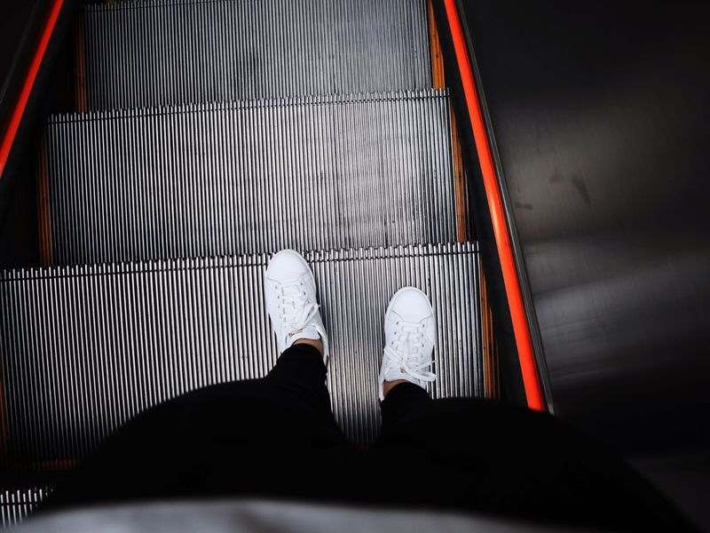 Step Non Stop  Alone Time One Person Not Alone Myself Shoes Adidas Black And White White Color On The Way Freedom Free