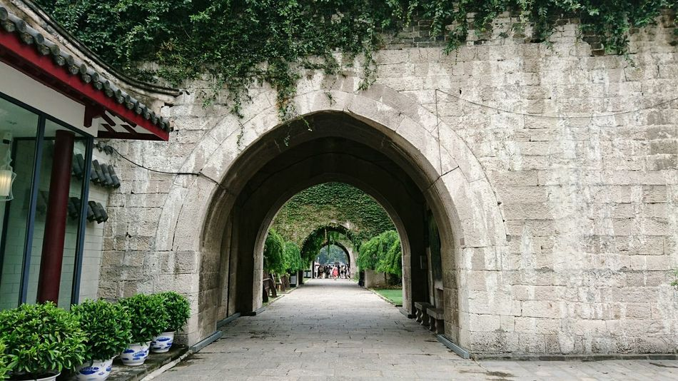 Architecture Arch No People Day Outdoors City Wall Chinese History Pattern