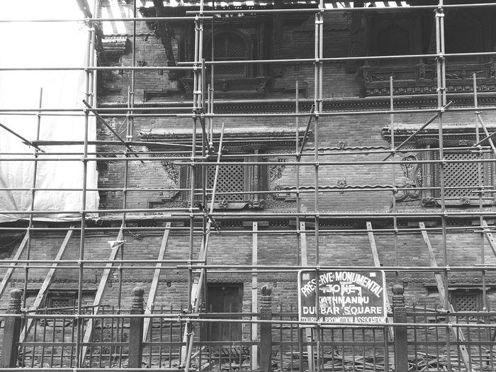 Broken, by earthquake. But not Beaten. HeritageOfNepal UNESCO World Heritage Site Monochrome Mobilephotography Eyeemnepal